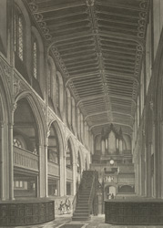 Interior of St Margaret's Church, Westminster, as seen from the East End. 24-b-1